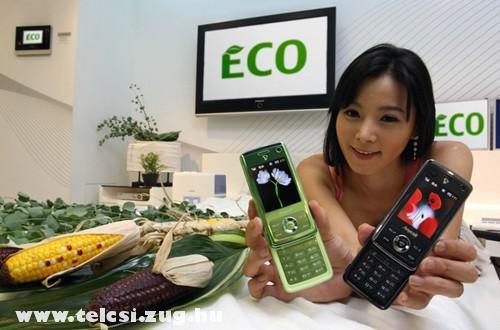 Samsung zöld telefonja