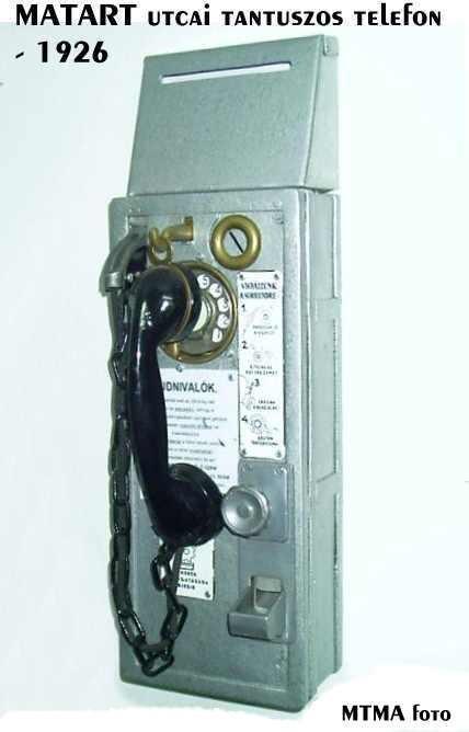 1926 Utcai tantuszos telefon