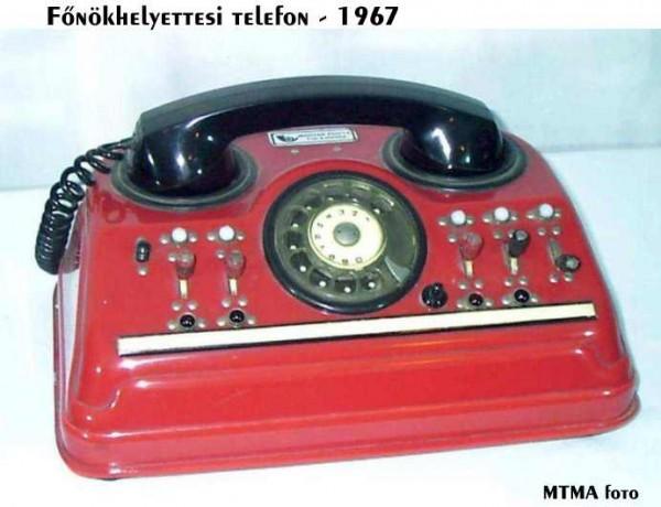 Fõnökhelyettesi telefon 1967