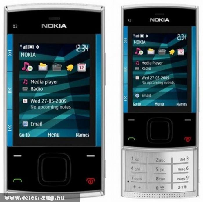 Nokia X3 - Alumínium, WLAN és HSPA