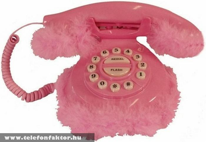 Rózsaszín telefon